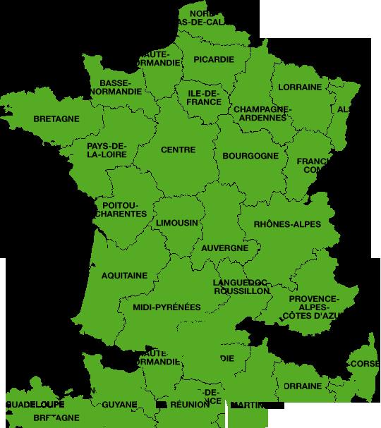 carte régions de france